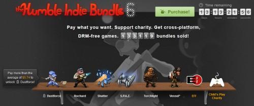 The Humble Bundle VI – Indie Games zum selbstgewählten Preis kaufen