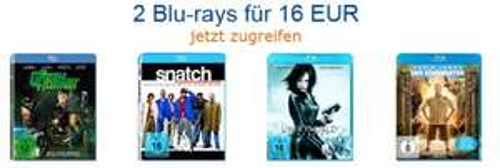 Amazon: 2 Blu-rays für 16 € und erneute 5-Tage-Aktion für DVDs und Blu-rays