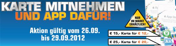 iTunes-Karten mit 20% Rabatt kaufen - bei Müller, Saturn und ProMarkt und Media Markt