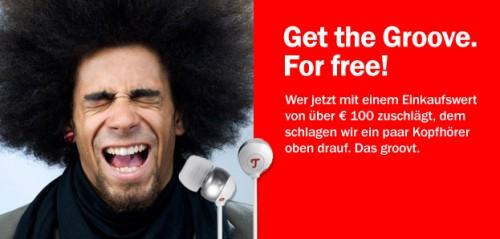 Teufel: In-Ear-Ohrhörer Aureol Groove im Wert von 70 € gratis bei Einkäufen über 100 €