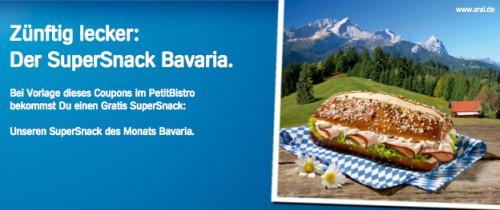 Gratis SuperSnack Bavaria beim Aral PetitBistro für Facebook Fans