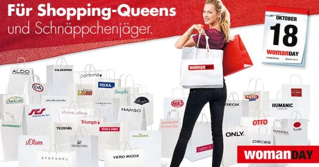 WomanDay Oktober 2012: Starke Rabatte in vielen Geschäften Österreichs! *TOP*
