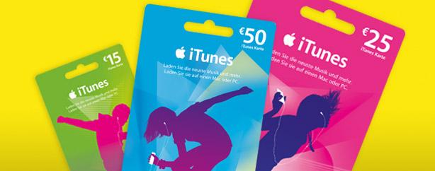 iTunes Geschenkkarten bei REWE 20% günstiger