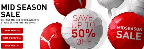 Mid Season Sale bei Puma mit bis zu 50% Rabatt auf ausgewählte Artikel