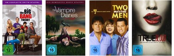 Film- und Serienschnäppchen bei Amazon - z.B. 3 Blu-rays für 25 € oder 2 TV-Serien-Staffeln für 20 €