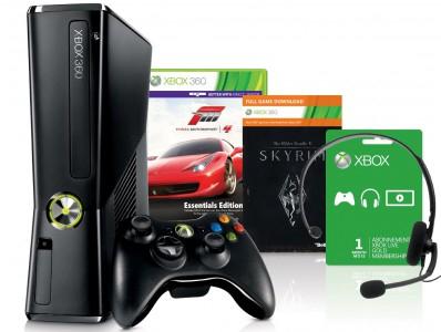 Xbox 360 Slim (250 GB) + Forza 4 und Skyrim für 200 € *Update* jetzt mit FIFA 13 & 2. Controller für 199,99 €