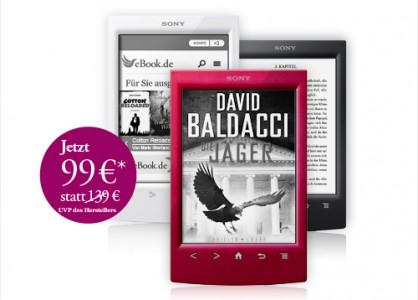 eBook-Reader Sony PRS-T2 mit 6 Büchern für 99 € - 23% sparen *Update* wieder erhältlich