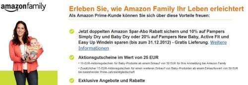 Amazon Family: bis zu 20% Rabatt auf Pampers Windeln & 10 € Gutschein sichern