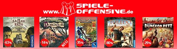 Spiele Offensive: Günstige Brett- und Gesellschaftsspiele und zusätzlich sparen mit Gutschein