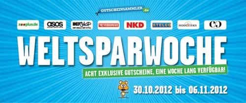 Weltsparwoche 2012 mit exklusiven Gutscheinen - z.B. 15% Rabatt auf alles bei ASOS und im DefShop
