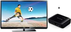 Philips 42PFL4007K (LED-Backlight, Triple-Tuner, Smart TV) + Belkin Smart TV Link für 430 € - 17% sparen