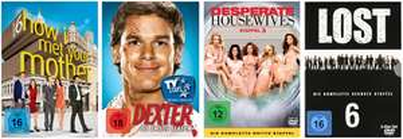 DVD- und Blu-ray-Angebote von Müller und Konter von Amazon - z.B. Serien-Staffeln ab 9,99 €