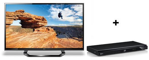 LG 55LM615S (3D, LED-Backlight, Triple-Tuner) + 3D Blu-ray-Player LG BP620 + Blu-ray für 985 €