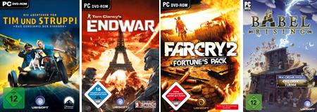 Ubisoft: 10 € Gutschein für den Online-Shop - z.B. PC-Spiele Far Cry 2 oder Tim & Struppi gratis