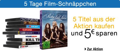 5 Tage Filmschnäppchen bei Amazon - z.B. Serien-Staffeln ab 9,97 € und Blu-ray-Boxen ab 14,97 €