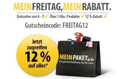 MeinPaket: 12% Rabatt auf das gesamte Sortiment