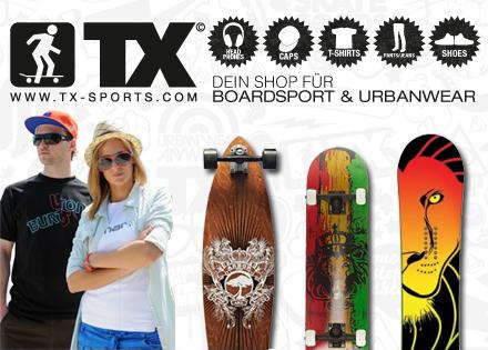 TX Sports: 150 € sparen ab 300 € Mindestbestellwert - z.B. Landyachtz-Longboard für 172 € statt 277 €