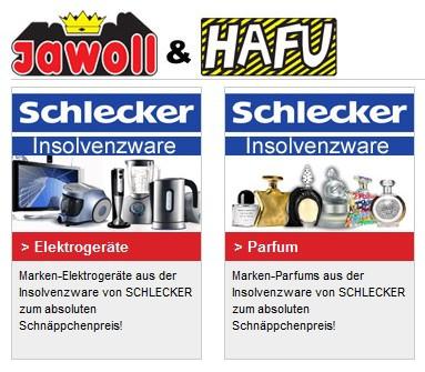 Jawoll verkauft Schlecker Insolvenzware mit 50% Rabatt!