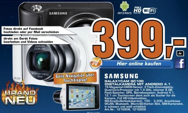 Samsung Galaxy GC100 Kamera für 399 € statt 499 € bei Saturn Österreich!