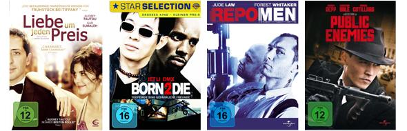 Neue Filmangebote bei Amazon - z.B. 3 Blu-rays für 21 €, oder 6 DVDs für 20 €
