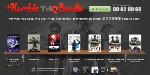 The Humble THQ Bundle für Windows mit einigen Top-Games - zum selbstgewählten Preis