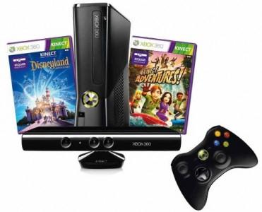 Xbox 360 Slim Arcade mit Kinect im Disneyland Adventures Bundle für 217 € statt 258 €