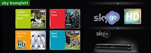 Top! Sky-Komplettpaket mit HD-Sendern, Sky Go & HD Festplattenreceiver für 34,90 € im Monat