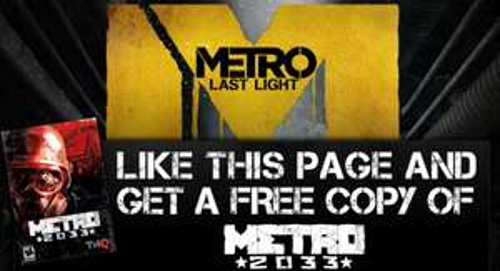 """PC-Spiel """"Metro 2033"""" komplett kostenlos über Facebook"""