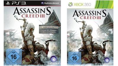 Top! Assassin's Creed 3 (PS3, Xbox 360) für 35 € bei Amazon und Müller - bis zu 37% sparen
