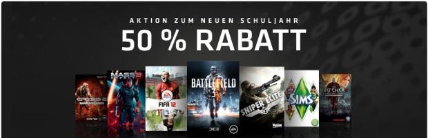 Top Kombi-Deal: 50% Rabatt + 10 Euro Gutschein bei Origin - z.B. Mass Effect Dreiteiler für 13,97 € statt 38 €!
