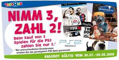 [PS2] Nimm 3 PS2 Spiele, zahl 2