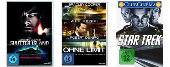 Filmangebote bei Amazon: 3 Blu-rays für 25 €, 4 DVDs für 20 € oder Blu-rays für je 6,97 €