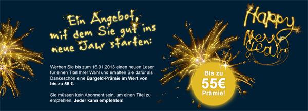 Neujahrsaktion bei Gruner + Jahr mit günstigen Zeitschriften-Abos - z.B. National Geographic für 9,60 €