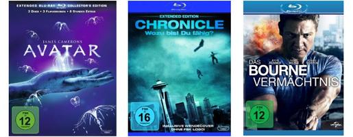 DVD- und Blu-ray-Angebote bei Saturn und Konter von Amazon - z.B. Avatar (Extended) für 9,97 €