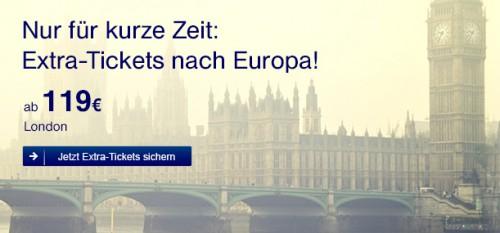 Flugschnäppchen: One-Way-Tickets bei Germanwings ab 33 € oder günstige Europaflüge mit Lufthansa