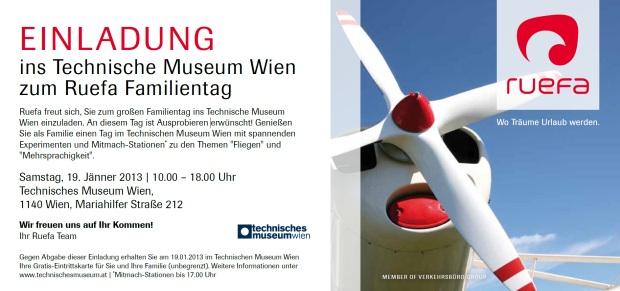 Kostenloser Eintritt im Technischen Museum in Wien (nur am 19.01.2013) *Update*