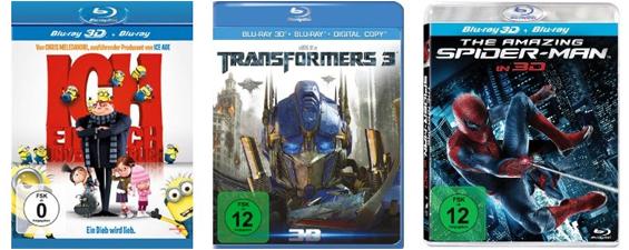 Filmangebote bei Amazon - z.B. Blu-rays für je 4,97 € oder 3D Blu-rays unter 20 €