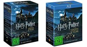 Harry Potter Komplettbox auf DVD ab 29,99 €, auf Blu-ray ab 39,99 €