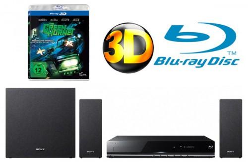 3D-Blu-ray-Heimkinosystem Sony BDV-EF200 + The Green Hornet ab 142 € - bis zu 46% Ersparnis