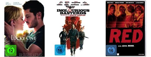 Filmschnäppchen bei Amazon - z.B. 2 Blu-rays für 18 € oder 4 DVDs für 20 €