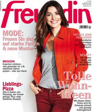 """Jahresabo der Zeitschrift """"Freundin"""" für effektiv 12,60 € durch Verrechnungsscheck"""