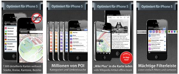 Offline-Karten-App City Maps 2Go Pro kostenlos für iOS *Update* jetzt wieder gratis herunterladen
