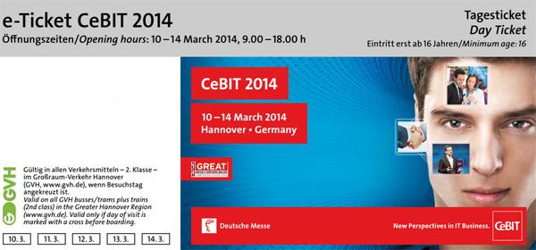 CeBIT Freikarten 2014 – Liste aller Aktioncodes *Update* Neue Aktionscodes aufgetaucht!