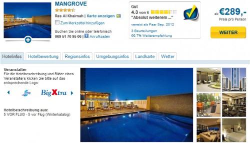 Urlaubsschnäppchen: 6 Tage in die Arabischen Emirate im 4-Sterne Hotel für 289 €