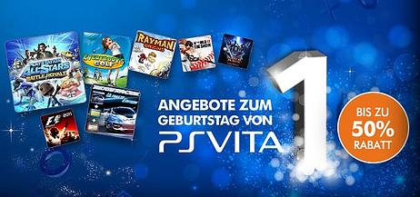 PlayStation Store: bis zu 50% Rabatt auf ausgewählte Spiele zum 1. Geburtstag der PS Vita