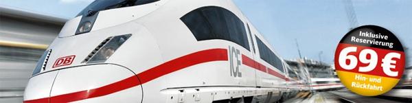 Deutsche Bahn Einsteiger-Ticket: Für 69 € hin und zurück durch ganz Deutschland