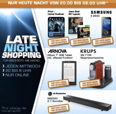 Saturn Late Night Shopping - heute z.B. mit Krups Nespresso Citiz XN 7106 für 129 € - ab 20 Uhr!