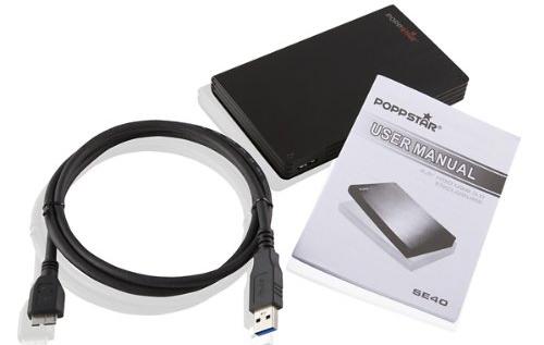 Externe Festplatte Poppstar SE40 (2,5″, 1 TB, USB 3.0) für 62,09 € statt 83,99 €