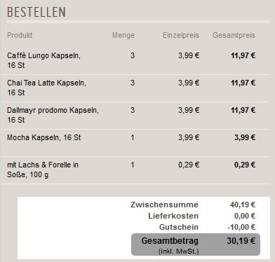 Mit 10 Euro AllYouNeed Gutschein günstig Kaffeekapseln einkaufen