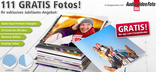 PosterXXL: 111 Fotoabzüge (10 x 15 cm) für 4,44 € inklusive Versand